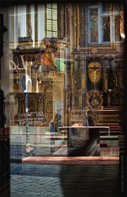 St. Castulus: Window In. Old Town, Prague, Czech Republic.